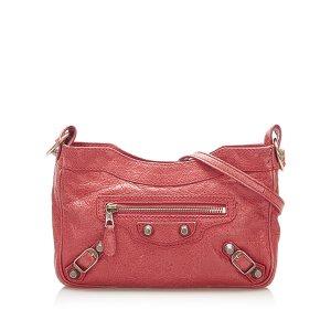 Balenciaga Gekruiste tas rood Leer