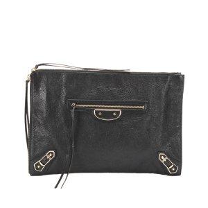Balenciaga Clutch black leather