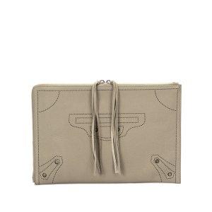 Balenciaga Clutch beige leather