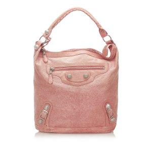Balenciaga Borsa larga rosa pallido Pelle