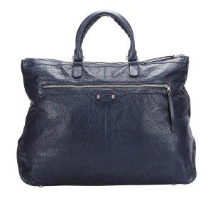 Balenciaga Travel Bag blue leather