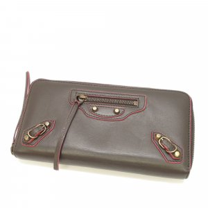 Balenciaga Wallet dark brown leather