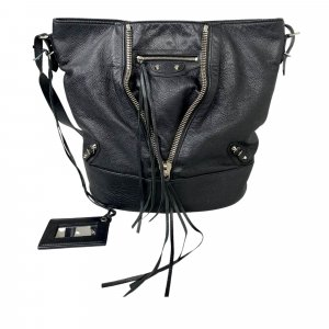 Balenciaga Shoulder Bag black leather