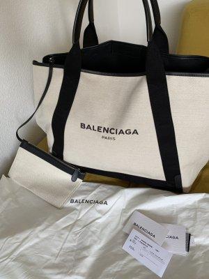 Balenciaga Shopper white-black linen