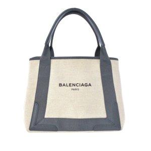 Balenciaga Navy Cabas S Canvas Tote Bag