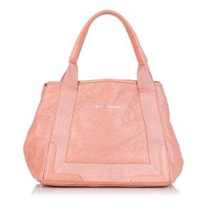 Balenciaga Navy Cabas S Leather Tote Bag