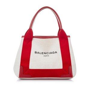 Balenciaga Navy Cabas XS Canvas Tote Bag