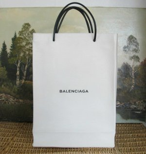 Balenciaga Mobile Phone Case white-black leather