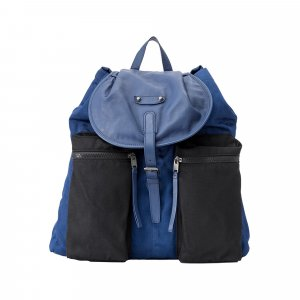 Balenciaga Sac à dos bleu nylon