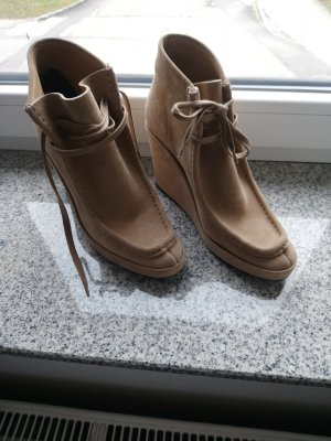 Balenciaga Wedge Booties light brown