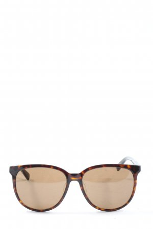Balenciaga Oval Sunglasses brown casual look