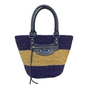 Balenciaga Panier Raffia Tote Bag