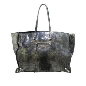 Balenciaga Tote dark grey leather