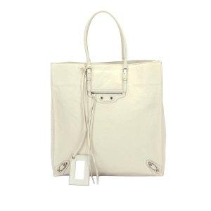 Balenciaga Tote white leather