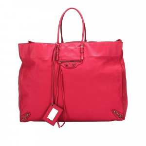 Balenciaga Tote pink leather
