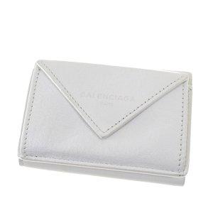 Balenciaga Portefeuille blanc cuir