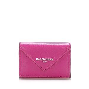 Balenciaga Portefeuille rosé cuir