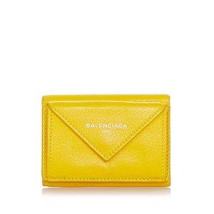 Balenciaga Wallet yellow leather