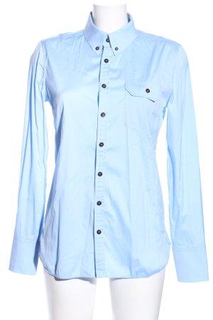Balenciaga Chemise à manches longues bleu style d'affaires