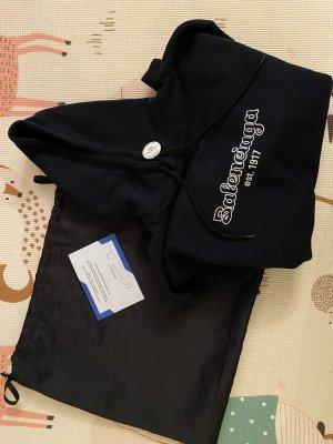 Balenciaga Jersey con capucha negro-blanco