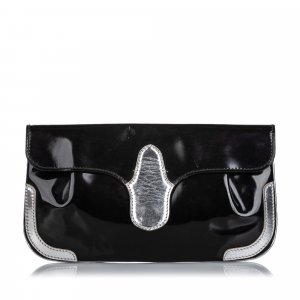 Balenciaga Patent Leather Clutch Bag