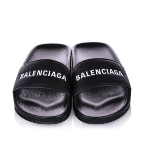 Balenciaga Sandalias de tacón negro clorofibras