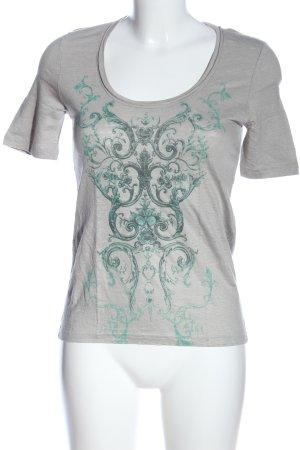 Balenciaga Print-Shirt hellgrau-grün Motivdruck Casual-Look