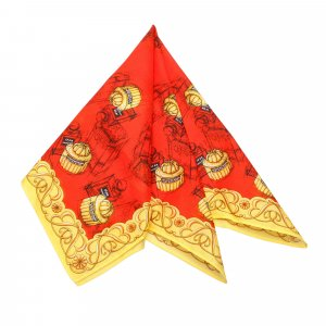 Balenciaga Scarf red silk