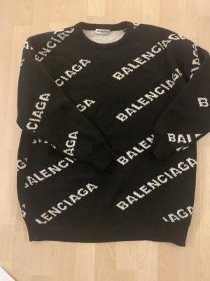Balenciaga Pull tricoté noir