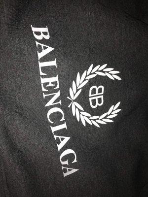 Balenciaga Pull à capuche gris-blanc
