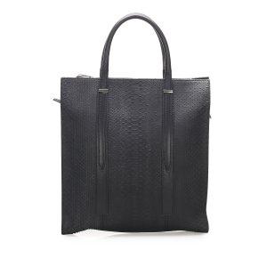 Balenciaga Satchel blue reptile leather