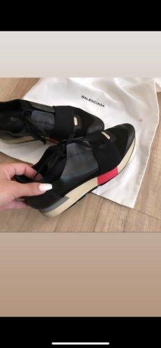 Balenciaga Sneakers met hak zwart-roze