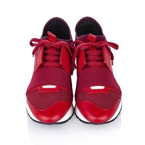 Balenciaga Race Runner Monochrome Nylon Sneaker