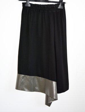 Balenciaga Gonna asimmetrica nero-bronzo Viscosa