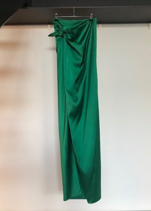 Balenciaga Asymmetry Skirt green