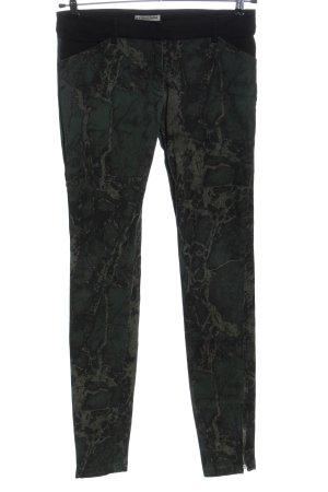 Balenciaga Pantalone a sigaretta cachi-nero motivo astratto stile casual
