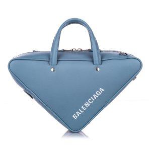 Balenciaga Satchel blauw Leer