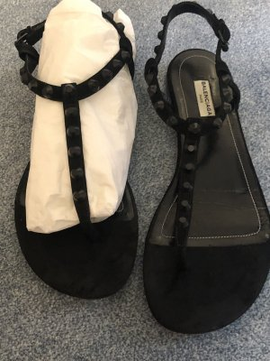 Balenciaga Toe-Post sandals black leather