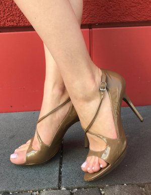 Balenciaga Sandale Gr. 38,5 Sandalette High Heels beige nude designer Schuhe