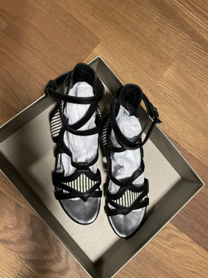 Balenciaga Strapped Sandals black-white