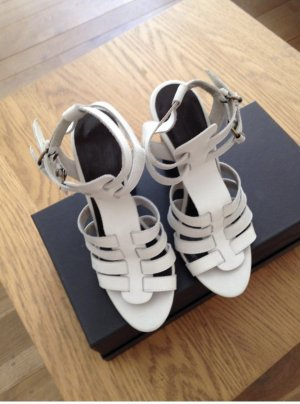 Balenciaga Sandales à plateforme brun foncé-blanc