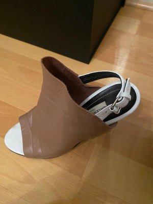 Balenciaga Sandales à plateforme brun-blanc