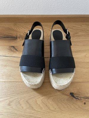 Balenciaga Sandales à plateforme noir-crème cuir