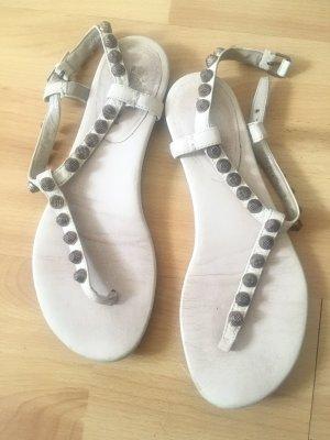 Balenciaga Sandalen weiss mit nieten