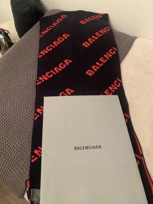 Balenciaga Woolen Scarf dark blue-red