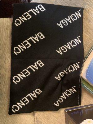 Balenciaga Bufanda de lana negro-blanco