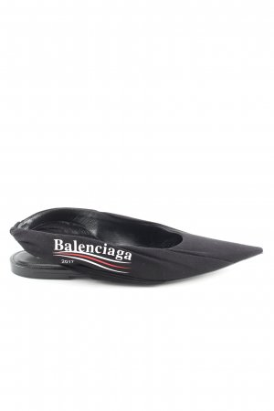 Balenciaga Schlüpfschuhe schwarz Schriftzug gedruckt Business-Look