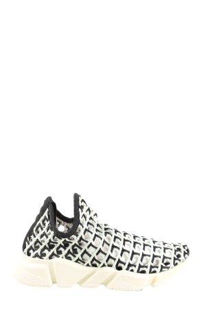 Balenciaga Schlüpfsneaker weiß-schwarz Webmuster Casual-Look