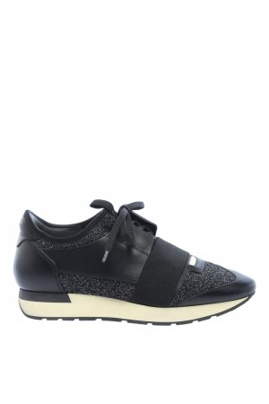 Balenciaga Lace-Up Sneaker black flecked casual look