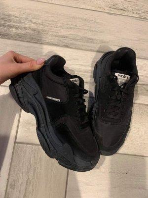 Balenciaga Sneakresy na obcasie czarny